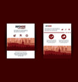 city brochure infographic vector image vector image