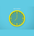 clock time is money business time vector image vector image