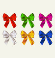 colorful bows isolated on white background vector image