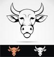 Cow Head Mascot vector image vector image