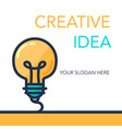 creative success idea banner vector image