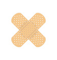 crossed plaster icon vector image vector image