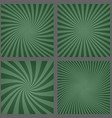 Dark green spiral and ray burst background set vector image vector image