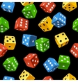 dice seamless pattern vector image
