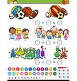 educational game cartoon vector image vector image
