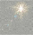 effect of bokeh circles with sun shine lens flare vector image