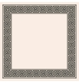 Greek style seamless ornament with corner element vector image vector image