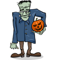 halloween frankenstein cartoon vector image vector image