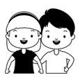 happy kids character vector image vector image
