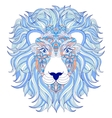 head of lion on white background vector image vector image