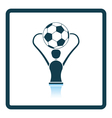 Icon of football cup vector image vector image