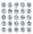 Icons sketches for the site vector image vector image