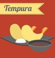 japanese food tempura vector image vector image