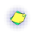 Memo notes with paper clip icon comics style vector image vector image