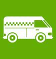minibus taxi icon green vector image vector image