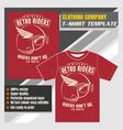 mock up clothing company t-shirt templatebikers vector image vector image