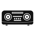 modern radio icon simple style vector image vector image