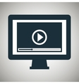 monitor pc live streaming design graphic vector image vector image