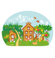 nature house vector image