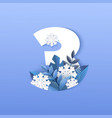 number three winter natural vector image vector image
