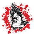 prayer christian praying praise god worship vector image vector image
