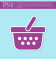 retro purple shopping basket icon isolated on vector image vector image