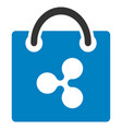 ripple shopping bag flat icon vector image