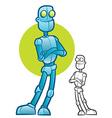 Robot Character Mascot vector image