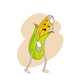 sad emotional vegetable in cartoon style with vector image vector image
