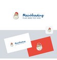 santa clause logotype with business card template vector image