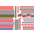 seamless ethnic and vintage embroidery patterns vector image vector image