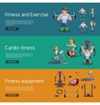 Set Of Three Fitness Banners vector image vector image