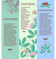 Set of vertical banners with floral elements and vector image vector image