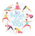 Set of Yoga poses for Pregnant women vector image vector image