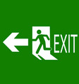 sign of an emergency or fire exit vector image