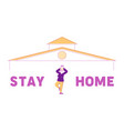stay home concept calm senior female character vector image