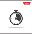 stopwatch icon isolated on white background vector image vector image