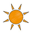 sun ecology symbol icon vector image