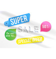 super sale 50 off discount banner template for vector image