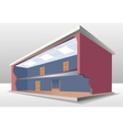 The building cross section vector image