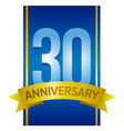 thirty years anniversary label vector image vector image