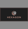 uw hexagon logo design inspiration vector image vector image