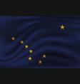 waving flag alaska 10 eps vector image vector image