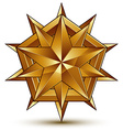 Wonderful template with golden star symbol best vector image vector image