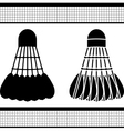 badminton shuttlecock silhouette and stencil vector image
