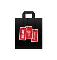 big sale on black paper bag vector image