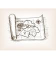Treasure map sketch style vector image