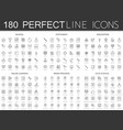 180 modern thin line icons set of school vector image