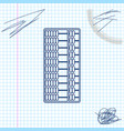 abacus line sketch icon isolated on white vector image