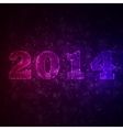 Abstract background with 2014 vector image vector image